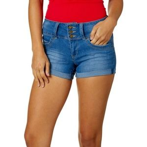273bf3dd45 YMI Shorts - YMI Wannabettabutt Womens Blue Denim Shorts Sz 7